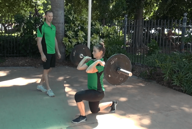 Front Rack Barbell Lunge