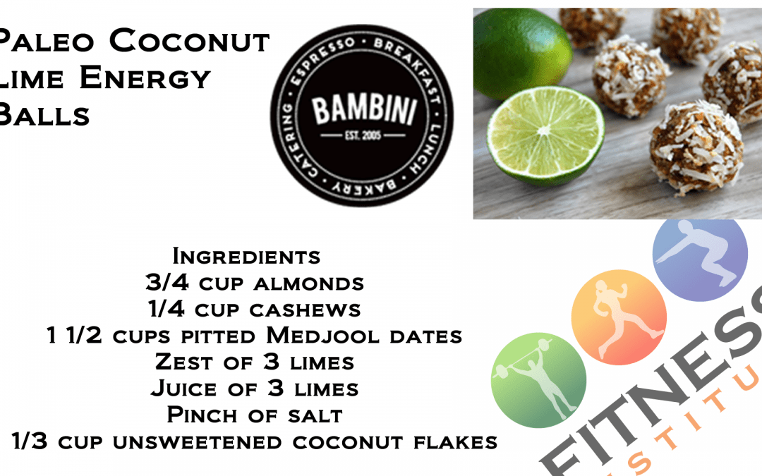 Paleo Coconut Lime Energy Balls – cooking demo