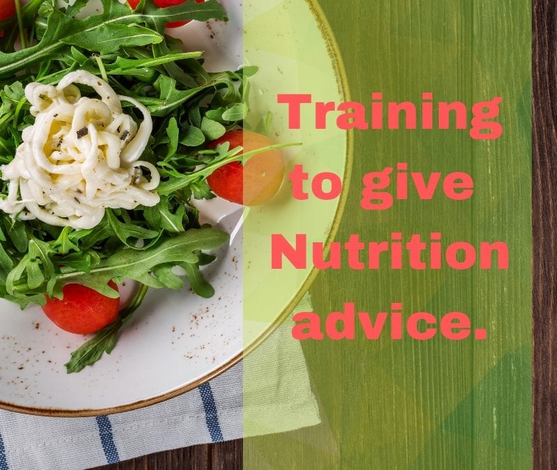Qualified to deliver Nutrition Advice?