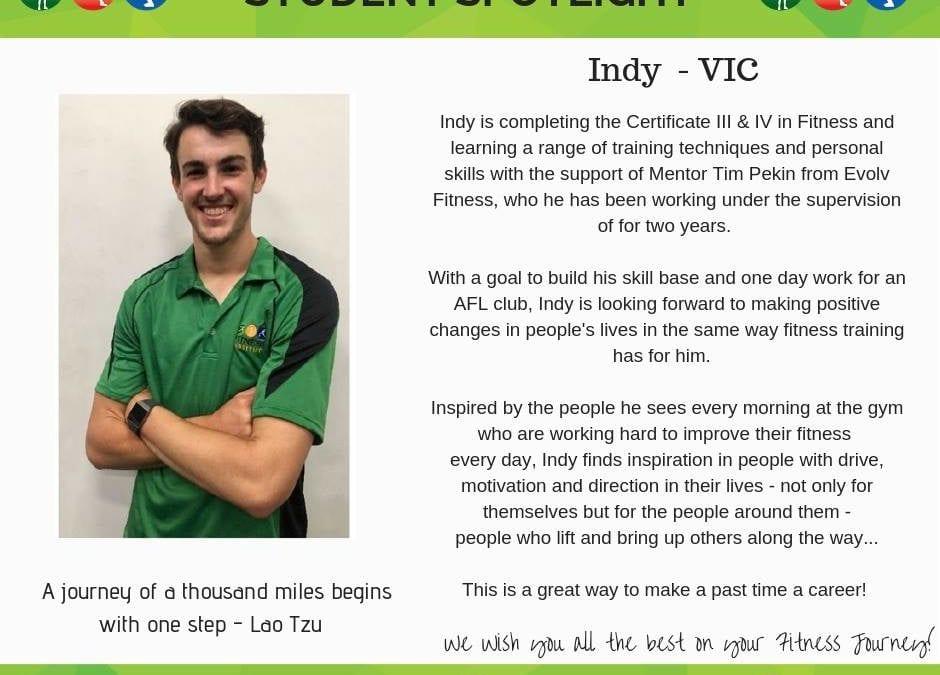 Student Spotlight: Indy – VIC